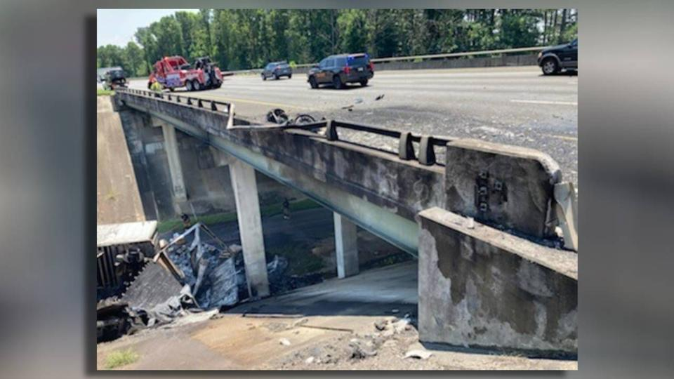 Picture for FedEx truck crashes off bridge, shutting down part of I-75 Wednesday afternoon