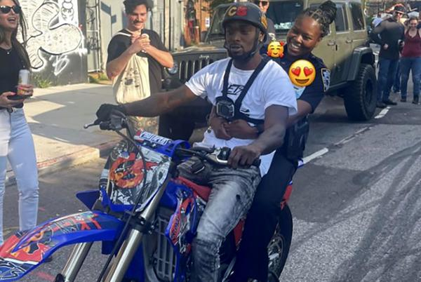 Picture for Uniformed NYPD cop caught on video riding back of illegal dirt bike amidst citywide crackdown