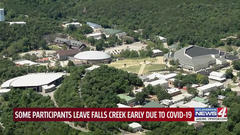 Cover for Parents speak about COVID concerns at Falls Creek Church Camp