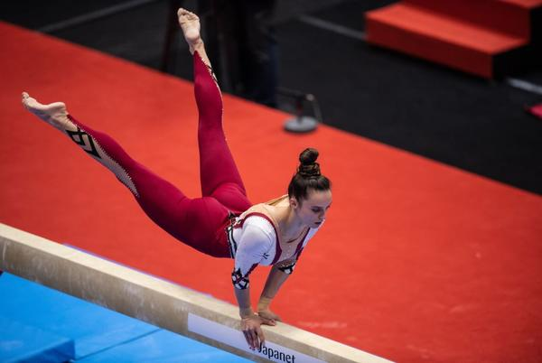 Picture for German Gymnast Pauline Schäfer Wins World Beam Silver Medal in a Statement-Making Unitard