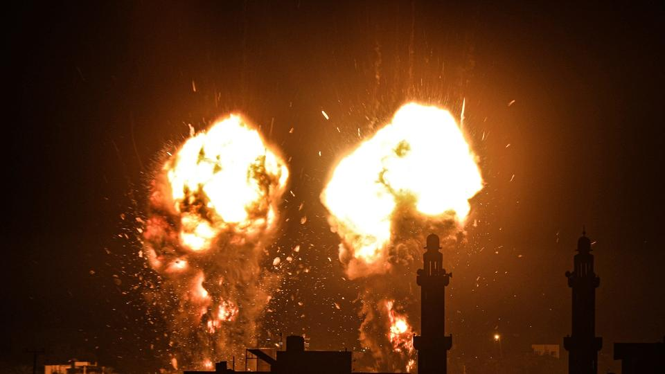 Picture for Israel launches airstrikes on Gaza in response to 'incendiary balloons'