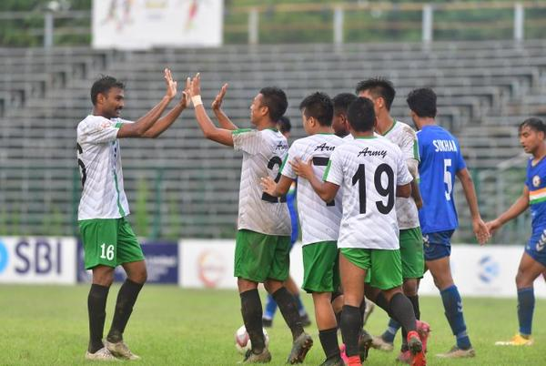 Picture for Former Champions Army Green through to quarterfinals of 130th Durand Cup