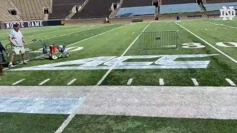 LOOK: Notre Dame reveals ACC logo on field for the first time | News Break