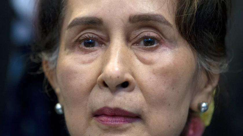 Picture for Myanmar puts ousted leader Aung San Suu Kyi on trial on charges critics call bogus