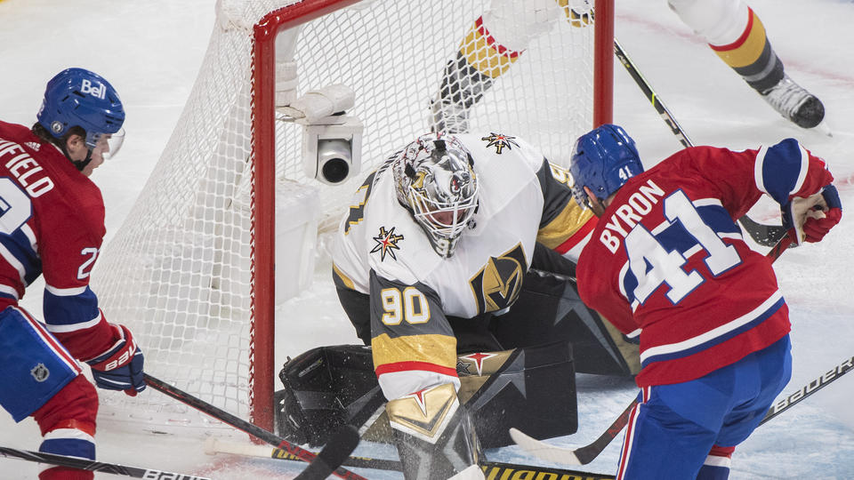 Picture for Roy scores 1:18 into OT, Vegas-Montreal series tied 2-2