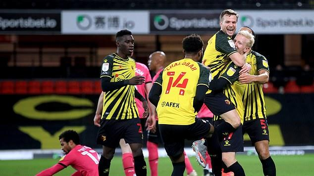 Picture for Watford 2-1 Derby: Goals from Joao Pedro and Will Hughes send Hornets up to third in the Championship despite late fightback from Wayne Rooney's side