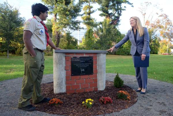 Picture for Fairfield high school student creates COVID-19 memorial: 'All of us have been affected'