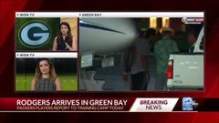 Cover for Packers QB Aaron Rodgers arrives in Green Bay