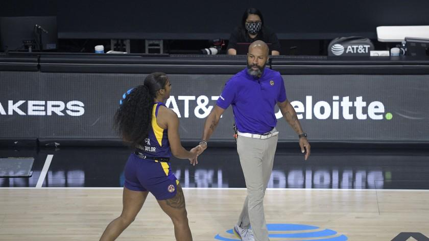 Picture for Jasmine Walker, Nia Coffey make final pitches to make Sparks roster in preseason finale