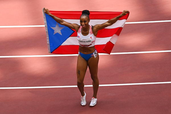 Picture for Jasmine Camacho-Quinn wins gold in 100M hurdles, Keni Harrison earns silver