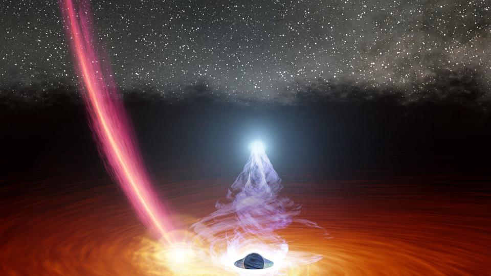 Picture for A black hole warped space-time so much that astronomers saw flashes of light from its far side