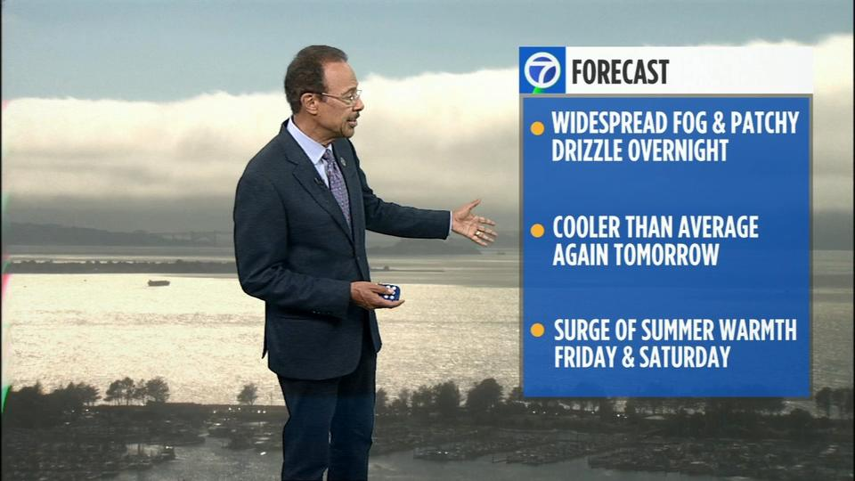 Picture for AccuWeather Forecast: Breezy and cooler Thursday