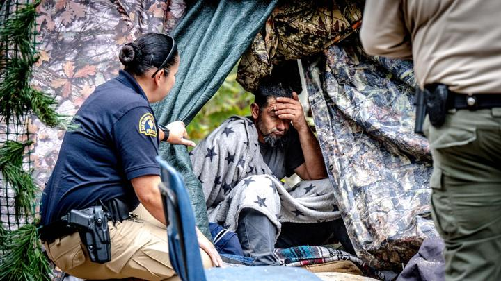 Cover for Homeless encampments in San Bernardino County mountains target of new ban