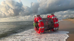 Cover for Florida man washes ashore in...a bubble?