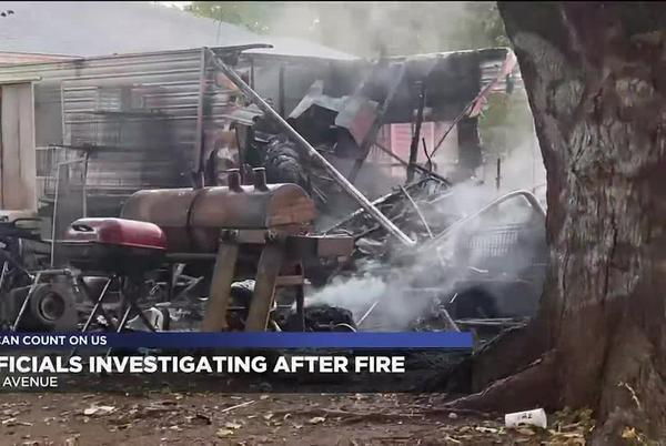 Picture for Lawton Fire Department investigating after camper fire on Taft