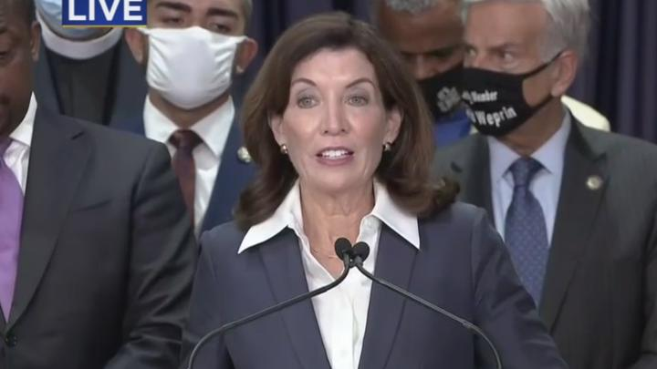 Cover for Nearly 200 People Being Released From Rikers After Gov. Hochul Signs 'Less Is More Act,' Calls N.Y.'s Incarceration Rate 'A Point Of Shame'