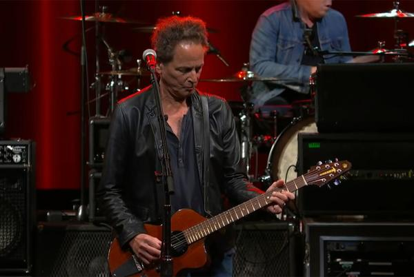 Picture for Watch Lindsey Buckingham flex his fingerpicking solo skills in On the Wrong Side performance on The Late Show