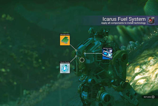 Picture for How to build the Icarus Fuel System for your Minotaur in No Man's Sky