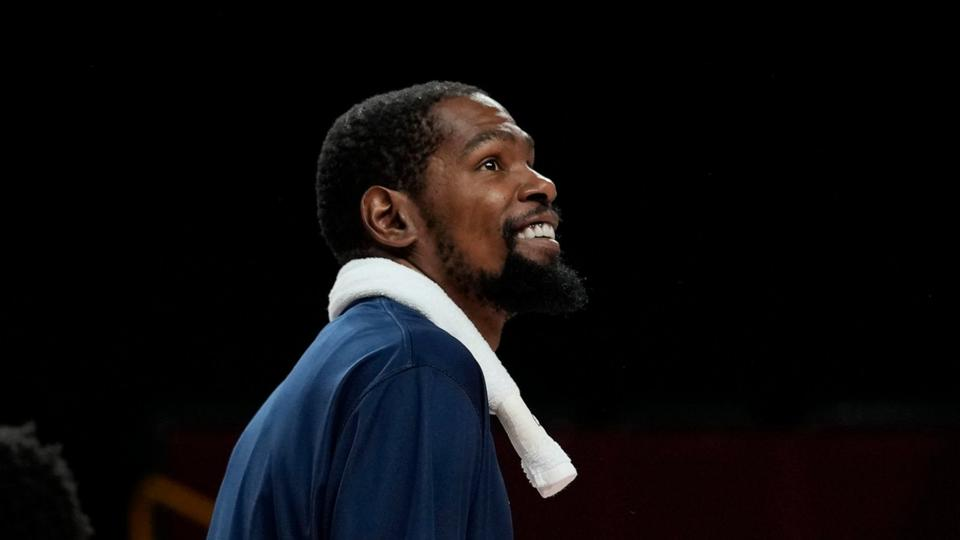Picture for Durant sets record, example for US Olympic men's hoops team