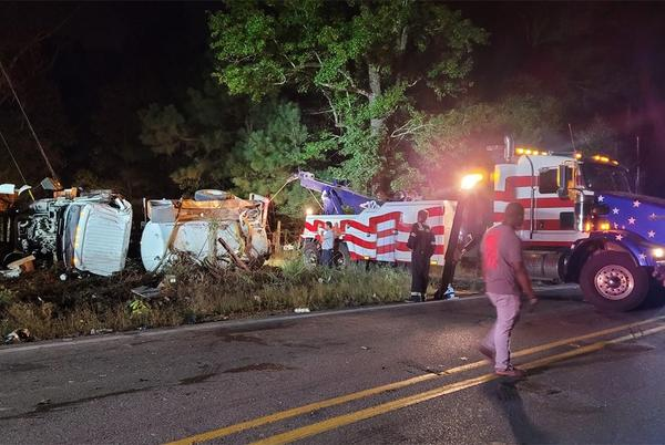 Picture for 18-wheeler overturns on road known for major crashes, according to Central mayor
