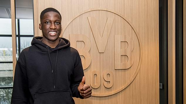 Picture for Manchester United and Barcelona pipped by Borussia Dortmund to signing of Paris Saint-Germain's 17-year-old star Soumaila Coulibaly... with the defender likened to Bayern Munich bound star Dayot Upamecano