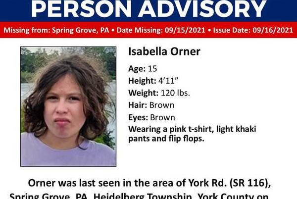 Picture for Police in York County looking for missing teenage girl