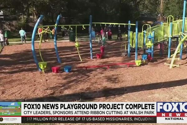 Picture for FOX 10 Playground Project becomes reality thanks to big team effort