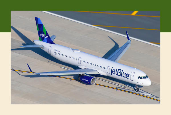 Picture for A JetBlue passenger allegedly rushed the flight deck and attacked a flight attendant. Crew members had to use 'makeshift restraints.'