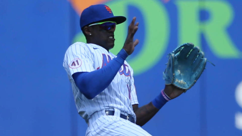 Picture for Mets outright OF Cameron Maybin, IF Wilfredo Tovar