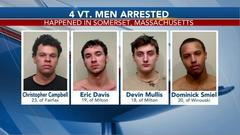 Cover for Four Vermonters arrested in Massachusetts following a fight, firearms