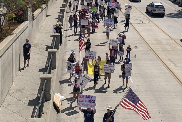 Picture for Festive Rally Against Vaccine Mandate in Santa Barbara