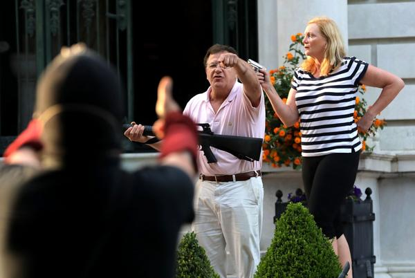 Picture for Court asked to suspend law licenses of gun-waving couple