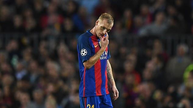 Picture for Jeremy Mathieu slams Barcelona for feeling 'lonely in the dressing room' during his spell there - as ex-defender reveals 'nobody is with you' and they 'killed' him after display in 3-0 defeat by Juventus in Champions League quarter-final first leg during 2016-17
