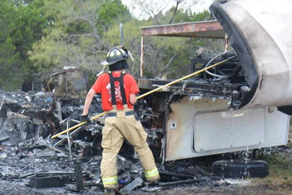 Picture for Fire in camper displaces Kempner-area family