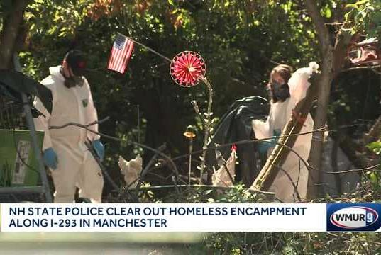 Picture for Police work to clear homeless encampment in Manchester