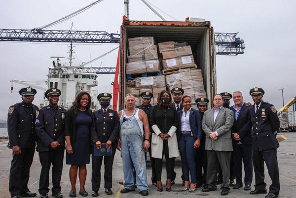 Picture for Answering the call: NYPD ships 11 large containers full of relief supplies to rebuilding Haiti