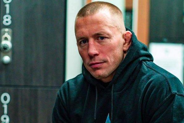"""Picture for Georges St-Pierre on Nick Diaz's late weight change request for UFC 266: """"He's either, I'm sorry to say it, stupid or extremely clever"""""""