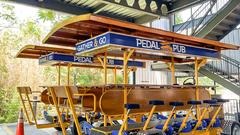 Cover for Pedal Pubs arrive in Fayetteville, set to begin operation next week