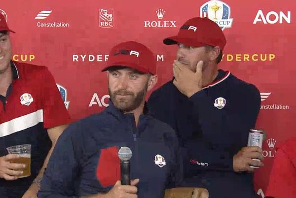 Picture for Dustin Johnson's best lines from hilarious Ryder Cup winning press conference