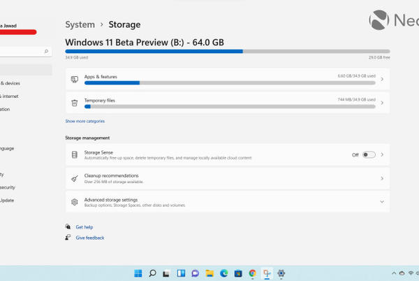 Picture for Closer Look: Storage settings in Windows 11