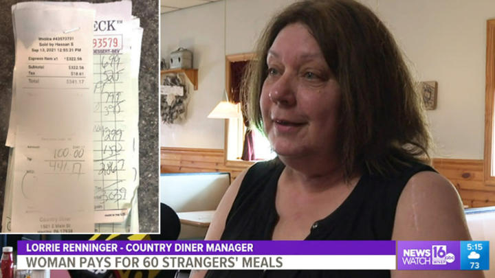 Cover for Woman Pays For 60 Strangers' Meals At Pennsylvania Diner