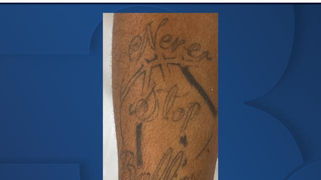 Picture for OPD asking for help in identifying homicide victim by tattoo