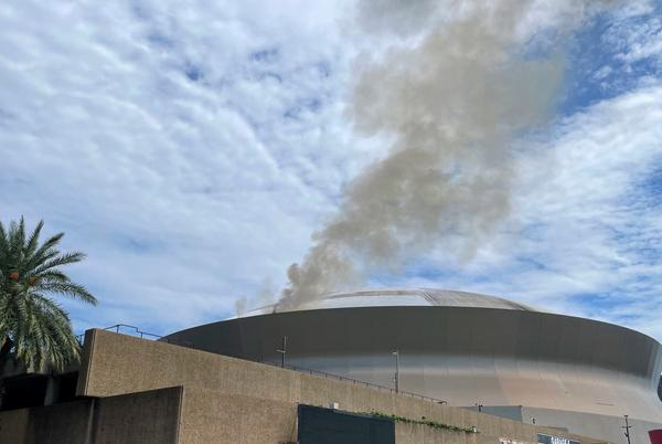 Picture for 'Louisiana needs a vacation': Twitter users react to New Orleans Superdome roof fire amid Ida aftermath