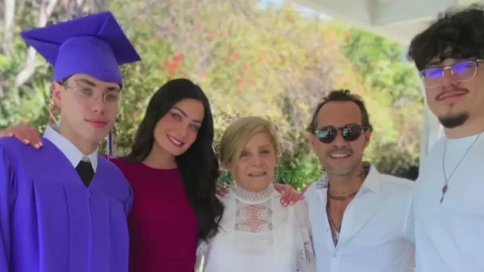 Picture for Marc Anthony and Dayanara Torres reunite at their youngest son's graduation