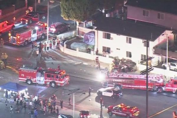 Picture for Deadly Multi-Vehicle Collision Strikes Apartment Building In Pacoima, Leaves 1 Dead, 5 Others Transported To Hospital