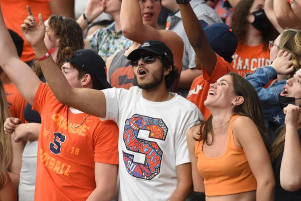 Picture for First Syracuse football game in Carrier Dome in 650 days includes rekindled friendships, minimal masks