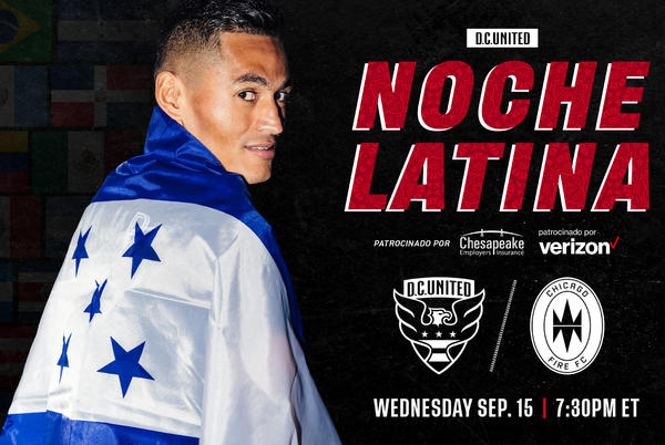 Picture for D.C. United to Kick-Off Hispanic Heritage Month Celebration with Noche Latina Match on Wednesday, September 15 at 7:30 p.m. EST
