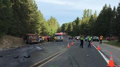 Cover for Washington State Patrol complete investigation into fatal Highway 395 crash, determine cause