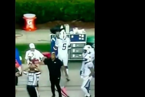 Picture for Kentucky LB DeAndre Square brutally shoves Wildcats equipment staffer to the ground after play