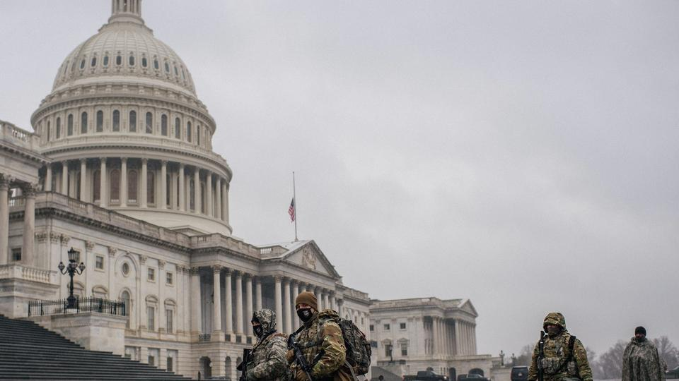 Picture for National Guard on standby in DC for March 4 - the day QAnon followers believe that Trump will become president
